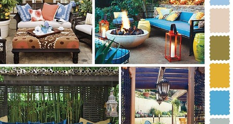 Outdoor furniture comes in a variety of fabrics, colours and styles.