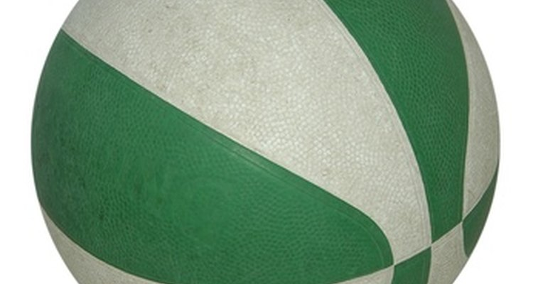 Similar to the sections on this basketball, subdivide styrofoam ball into six equal segments.