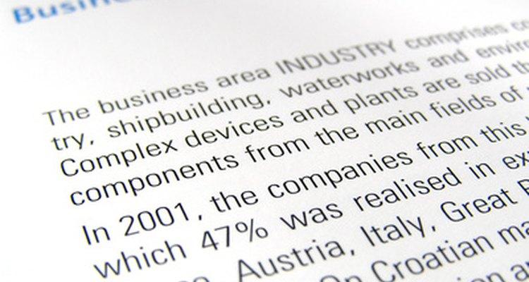 Um relatório formal de negócios mostrará os resultados de projetos discutidos no documento