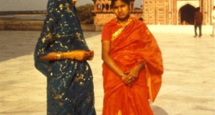 Indianas usam sari