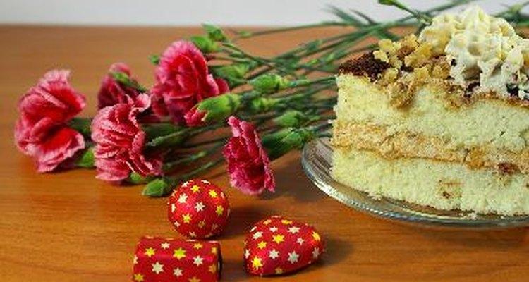 Flores y chocolates.