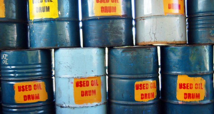Items such as these drums of used oil need to be clearly identified.