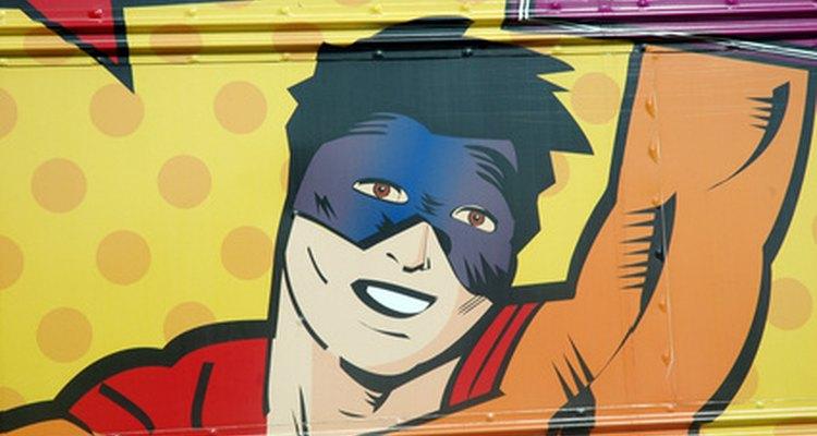 É possível criar os seus próprios super-heróis de histórias em quadrinhos fazendo desenhos