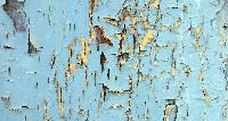 O envelhecimento de paredes dá um novo estilo ao ambiente.