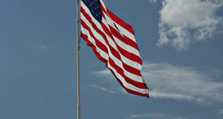 Display your flag outdoors on a flagpole using the proper knot.