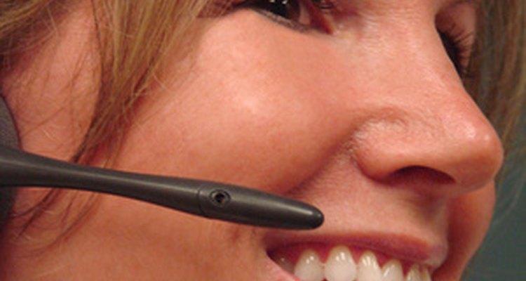 Una gran parte del servicio al cliente de un banco tiene lugar por teléfono.