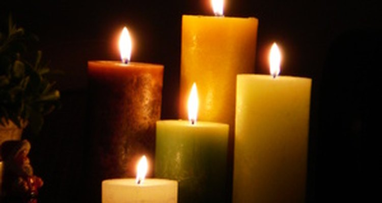 Lighting candles in memory of deceased loved ones.