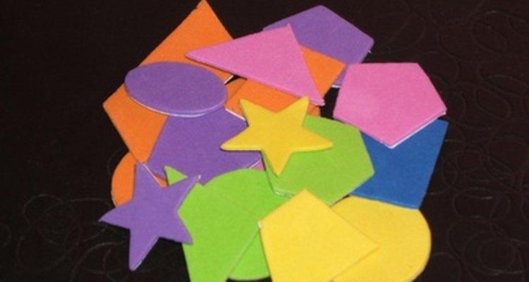 Há muitos formatos diferentes que se pode cortar nos feltros