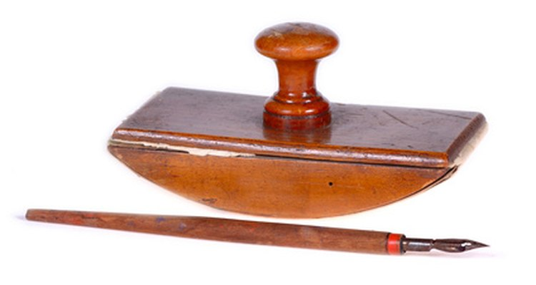 Victorians used rolling blotters.
