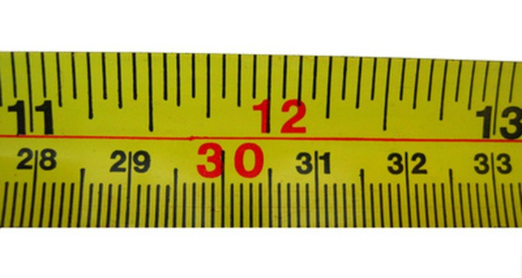 Use a tape measure to mark where to place the eye hooks.