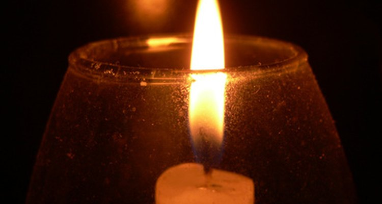 Black smoke stains on candle holders can be easily removed.