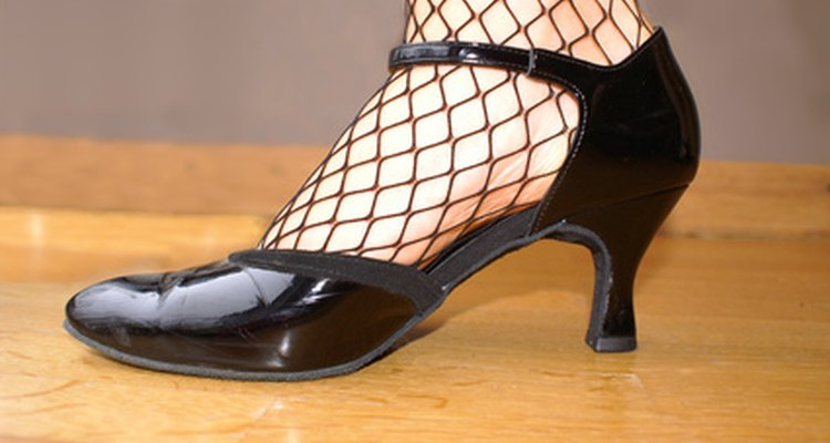 Patent leather continues to be popular with dance shoes.