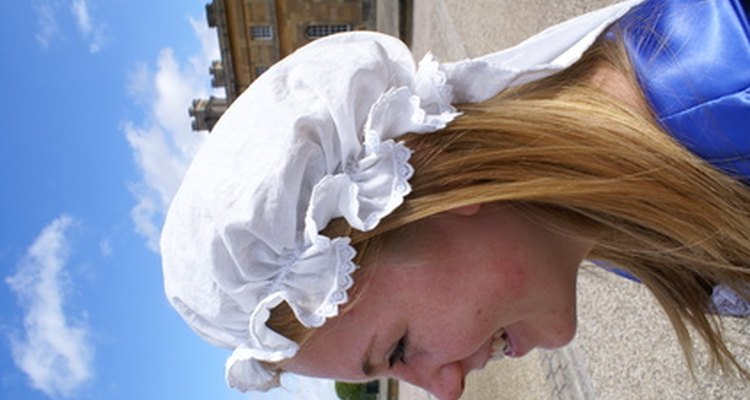 The mop hat is a common old-fashioned style