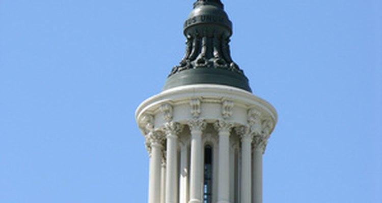 La cúpula del Capitolio está hecha de hierro fundido.