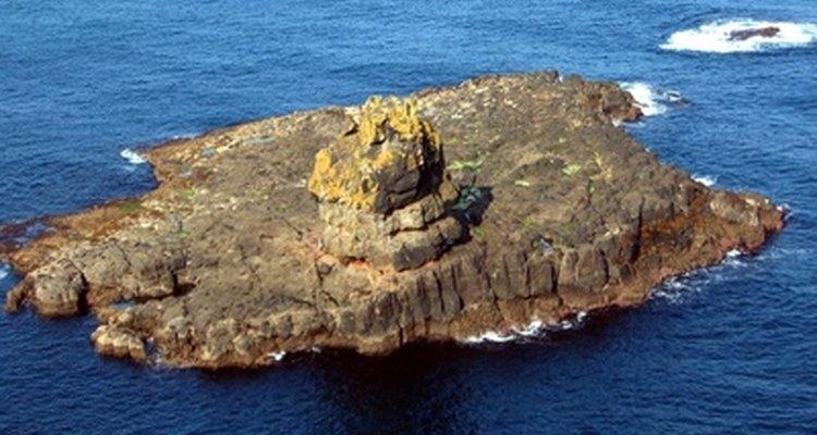 Uma ilha vista de cima