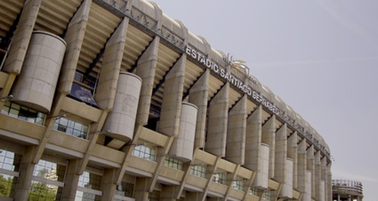 The Santiago Bernabeu, home of nine-time Champions League winners Real Madrid.