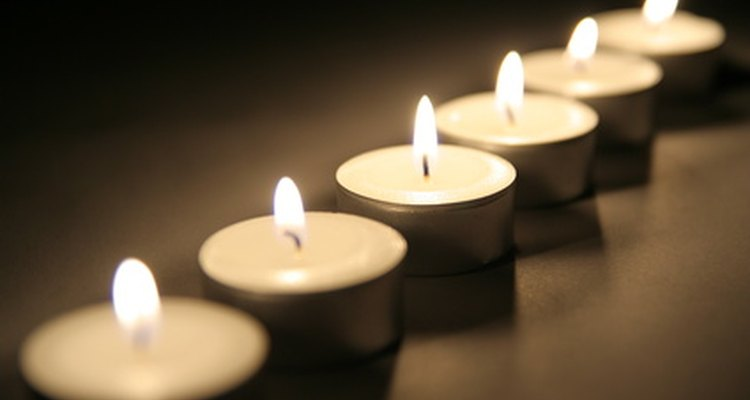 Tea light candles are used decoratively and work well with little fragrance oil.