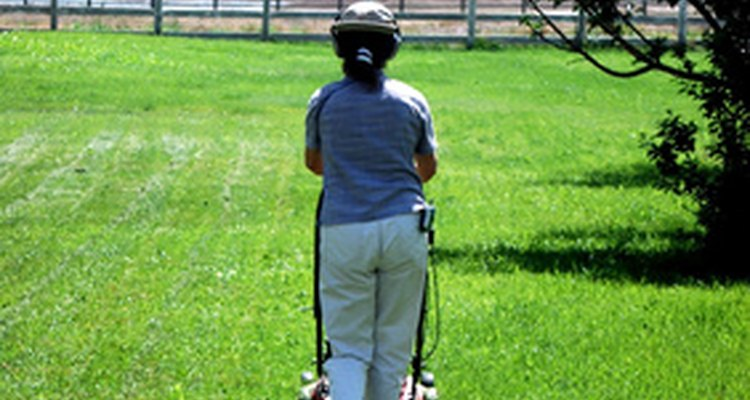 Many women cite exercise as a mowing benefit.