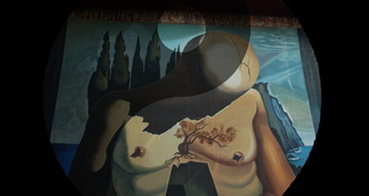 Salvador Dali, a force in the dada movement,  incorporated yin and yang in this painting.
