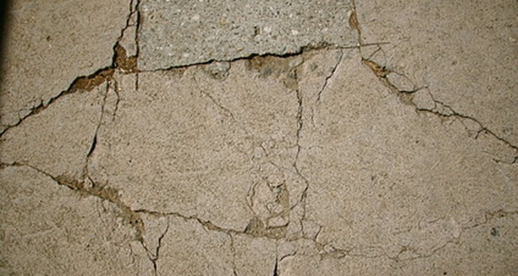 Cracks in concrete allow water to seep in cause more damage to the post.