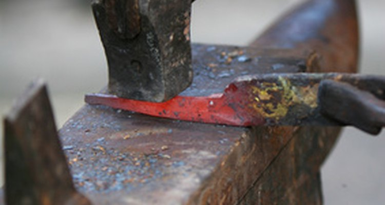Metalworking involves the heating and manipulation of metal to create objects.