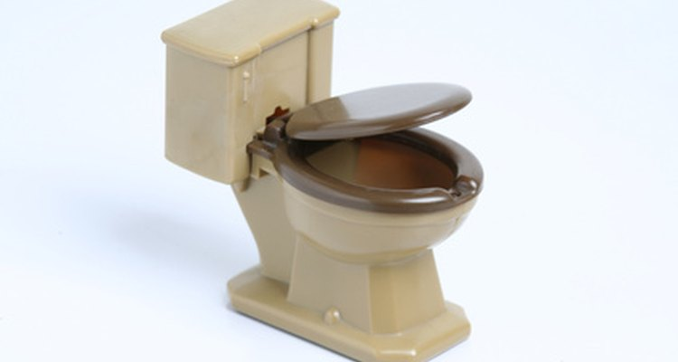 Os vasos sanitários possuem uma válvula de enchimento para controlar a quantidade de água adicionada na caixa