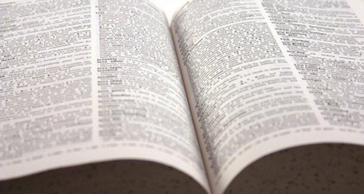 Un diccionario, una fuente útil de palabras alternativas.