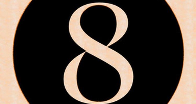 O símbolo do infinito parece um número oito deitado