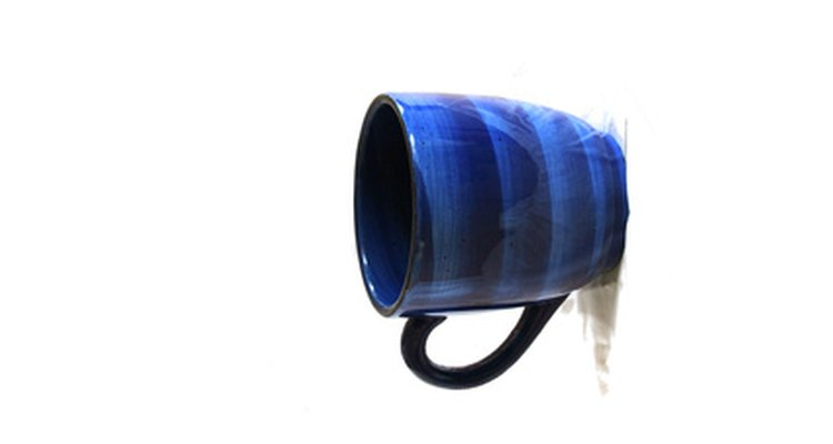 Coffee mugs can leak dangerous material if they become scratched or chipped.