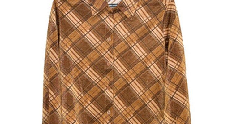 Camisa colorida de manga comprida