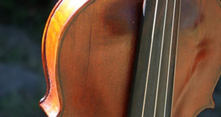 Hide glue is the adhesive of choice for violin makers.