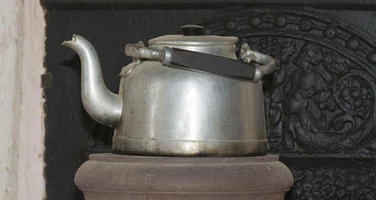 Early kettles were made of copper and nickel.