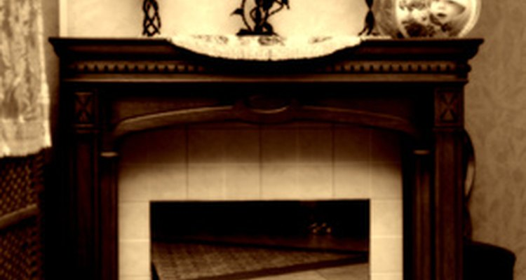 Tile over marble fireplaces to change or update the look of the room.
