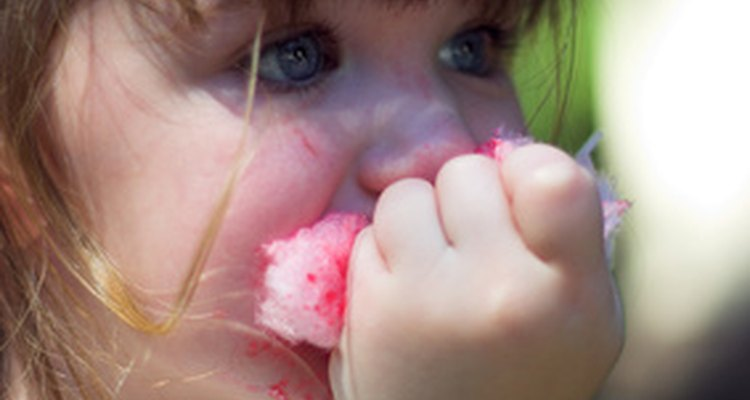 Candyfloss can leave a sticky residue behind. To remove it from the machine, turn the machine on