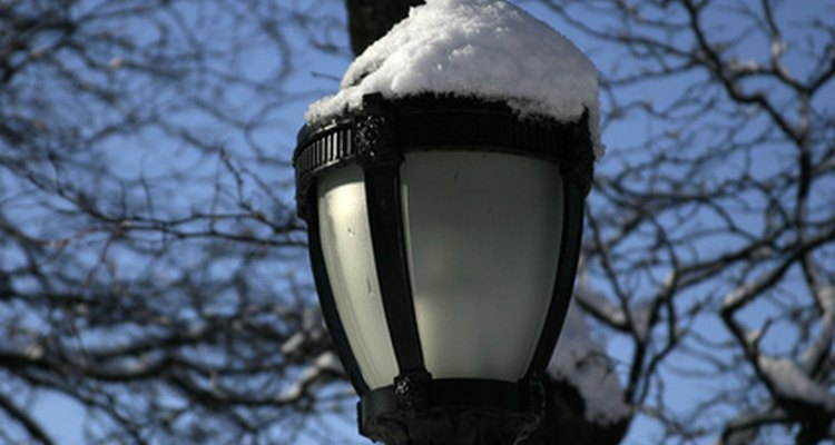 Garden lamp posts are usually shorter than street lights.