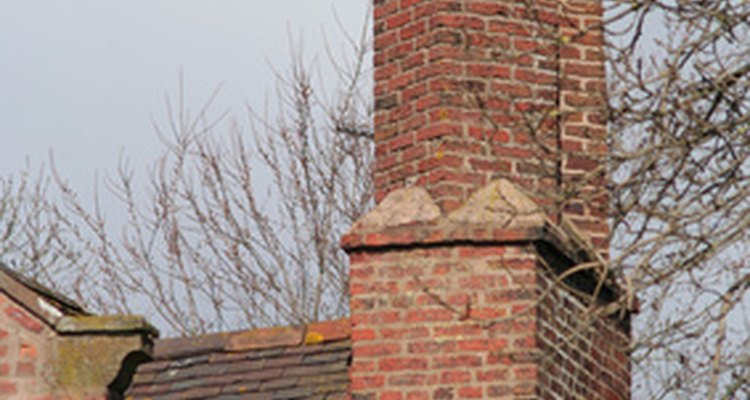 Prior to 1796, the chimney structure was built outside the exterior wall.