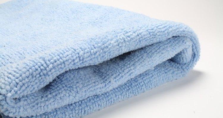 Lave um cobertor de microfibra