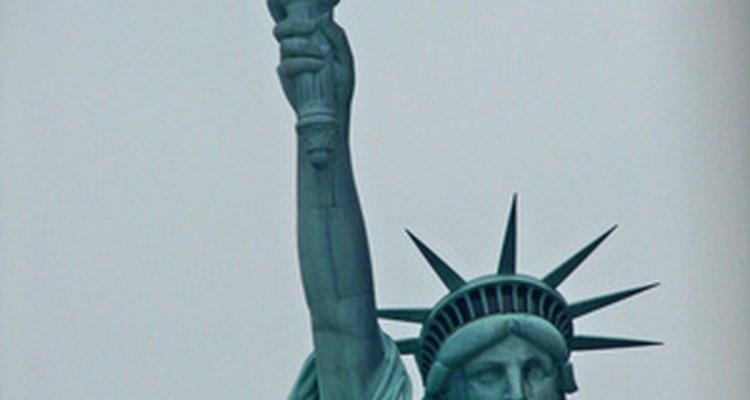 La estatua de la Libertad, un ícono inconfundible de la libertad.