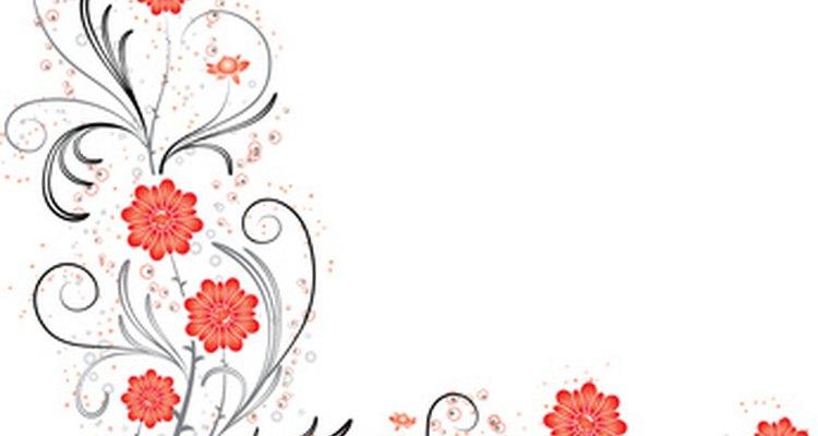 Convites com flores no canto fazem parte do estilo clássico