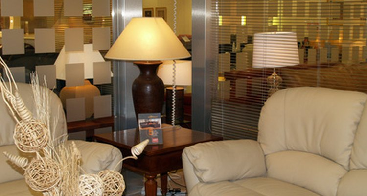 Table lamps are necessary to light small spaces within the open floor plan of a loft and add to the decor.