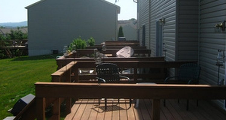 Seal the space in between deck boards using silicone caulk.