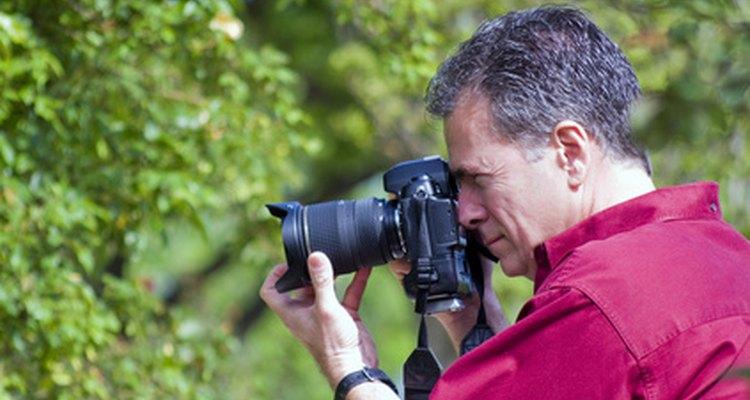 Um fotógrafo profissional