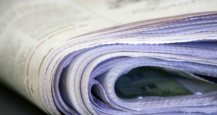 Os jornais contêm notícias importantes