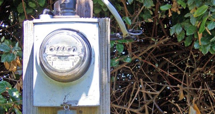 Outdoor electric meters should be installed in weatherproof housing.