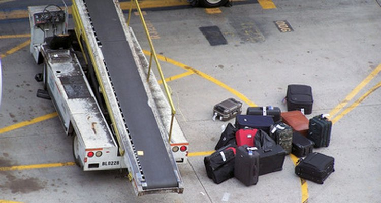 Checked baggage is screened for explosive materials.
