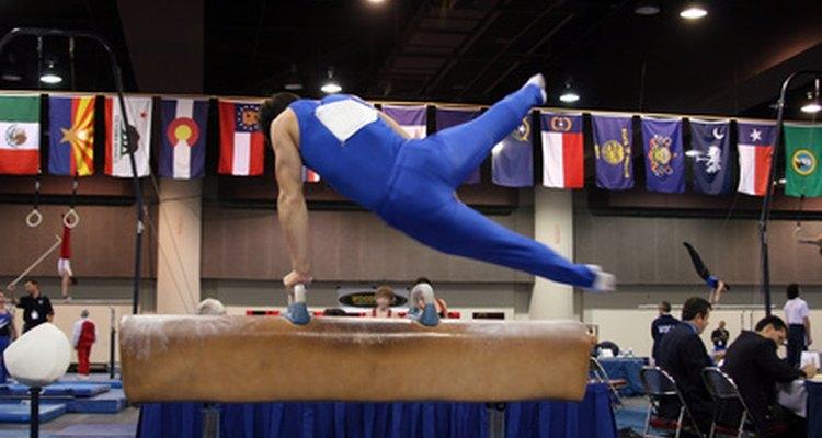 Uno de los ejercicios de las pruebas de gimnasia en los Juegos Olímpicos.
