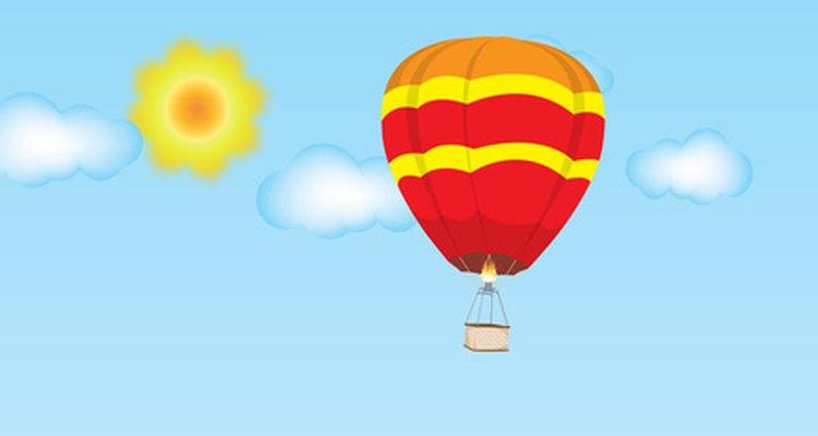 Los globos aerostáticos pueden servir como el tema perfecto par un baby shower.