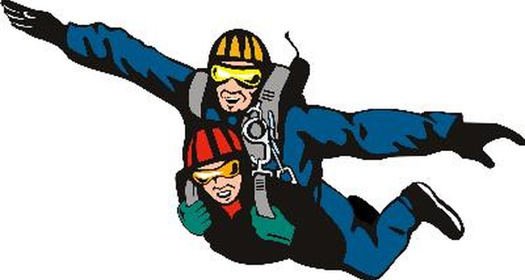 El paracaidismo es un deporte para los amantes de la adrenalina.
