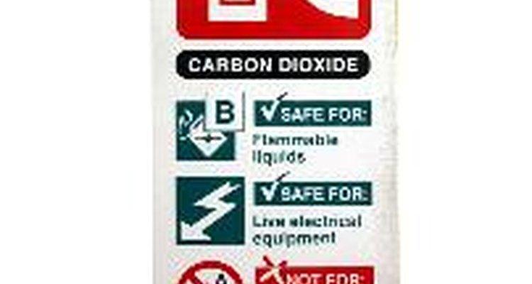 Cartel indicador con información en caso de incendios.