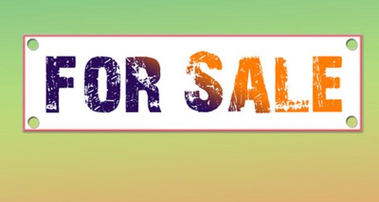 """Você pode fazer seus próprios cartazes de """"à venda"""" usando programas gráficos"""
